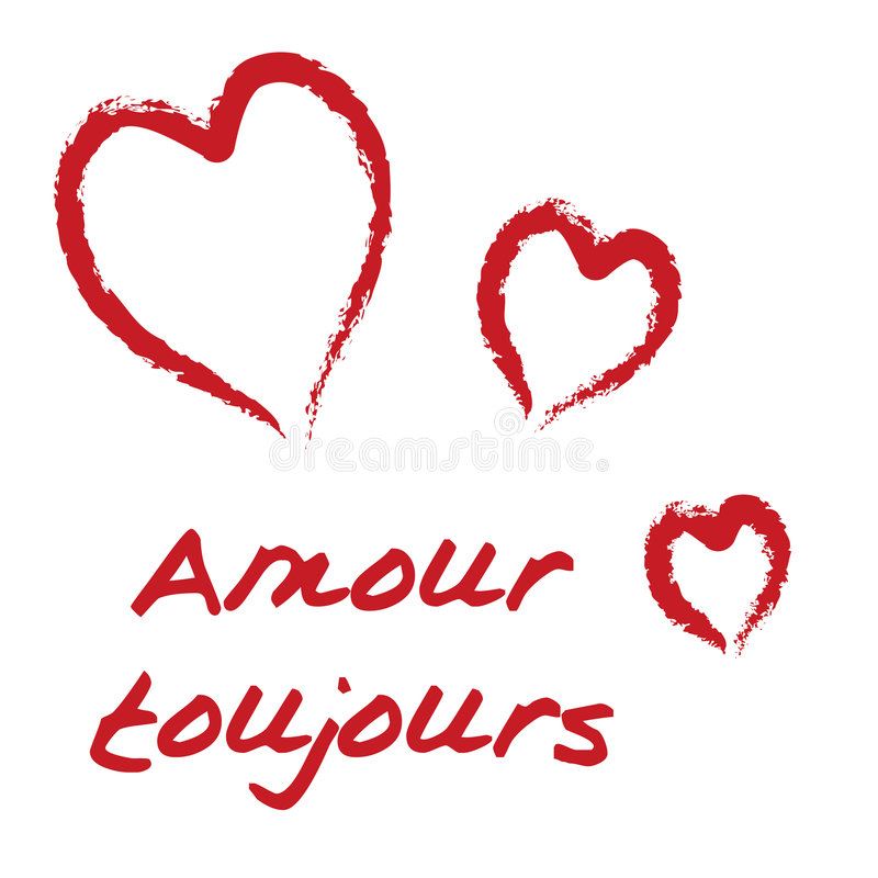 Toujours do Amour ilustração royalty free