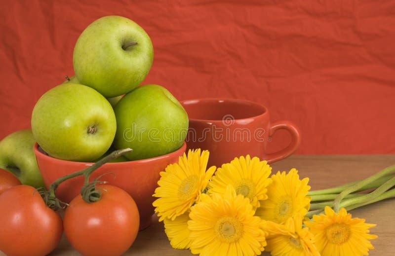 Toujours durée saine rouge, jaune, verte photo stock