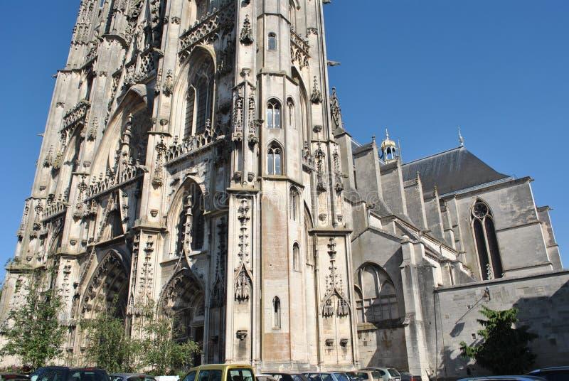Toul的圣安提尼大教堂,法国 免版税库存图片