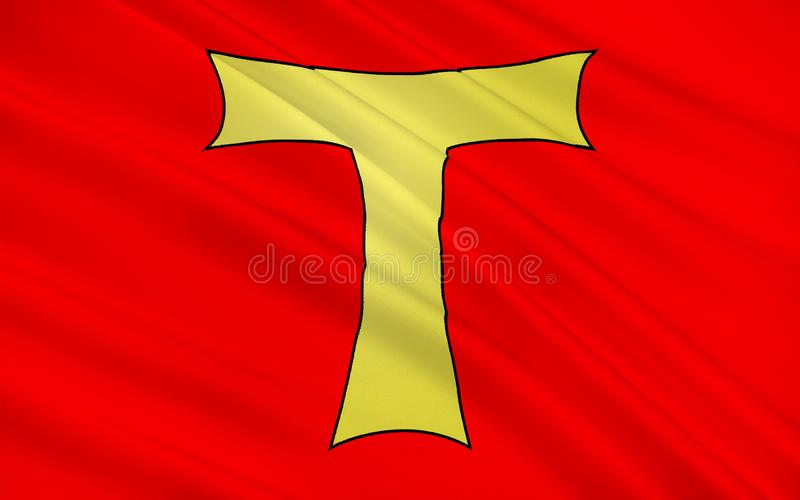 Toul,法国旗子  向量例证