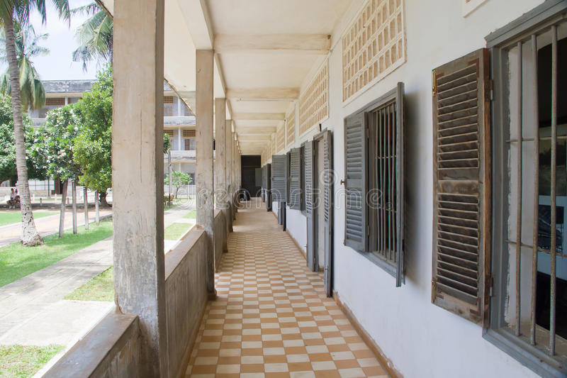 Download Toul Sleng Memorial stock image. Image of barrier, path - 20960615