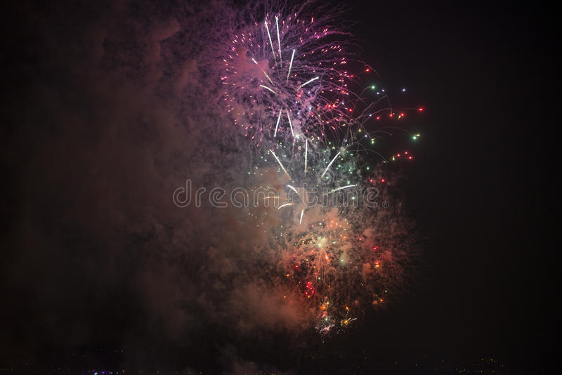 Download Toulon (France): fireworks stock photo. Image of photography - 37484868
