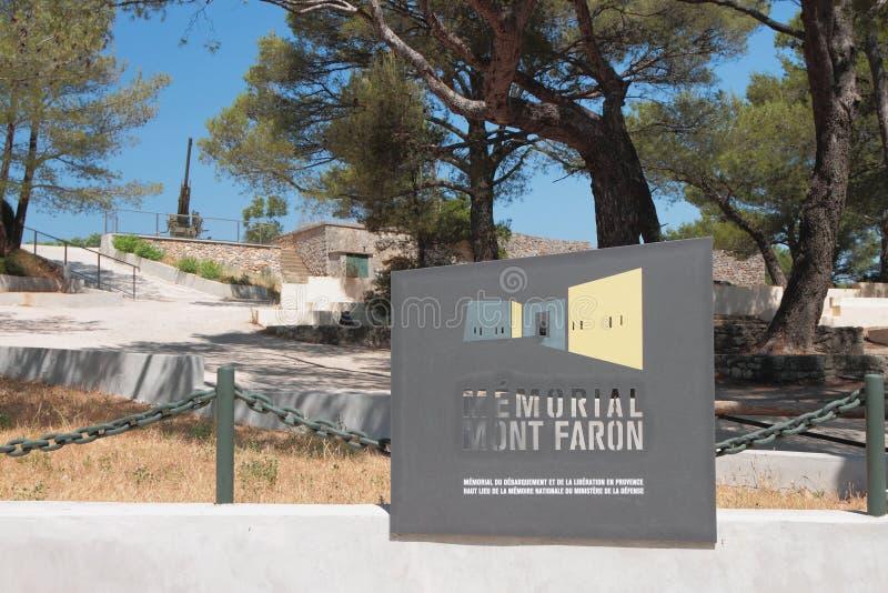 Toulon Francja, Jul, - 01, 2019: Pomnik na górze Faron obraz royalty free