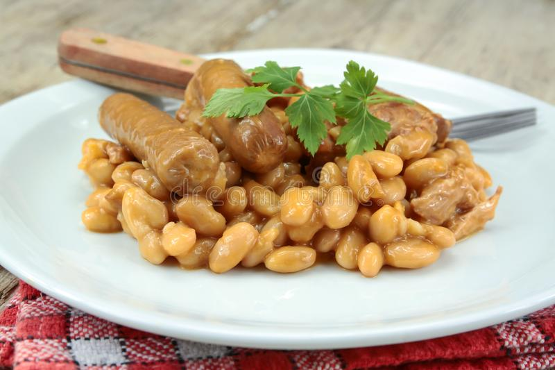 Toulousain cassoulet. On a plate stock photo