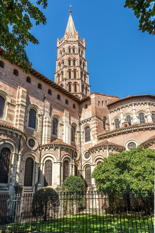 Toulouse - Basiliek van Heilige Sernin - Frankrijk royalty-vrije stock afbeeldingen