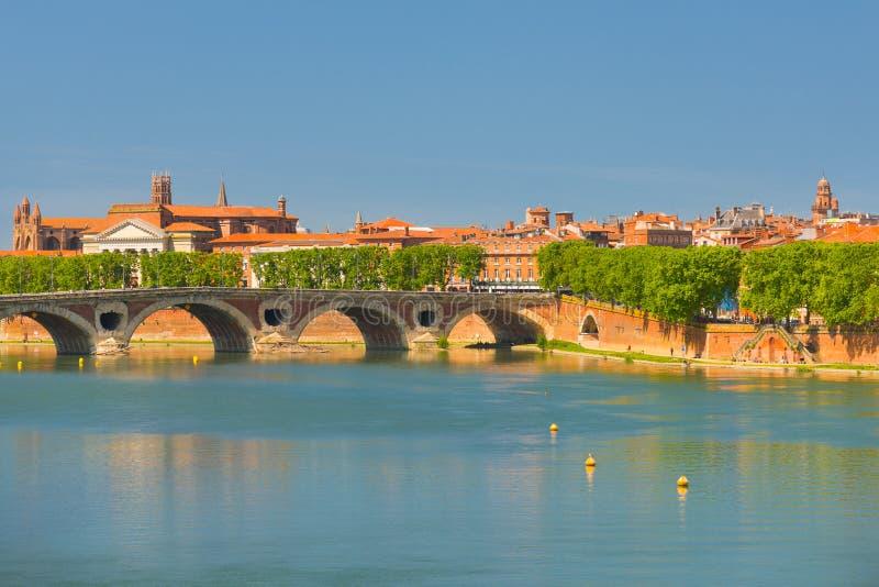 Toulouse en un día de verano fotografía de archivo