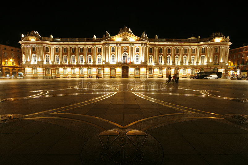 Toulouse Place van Capitool stock foto
