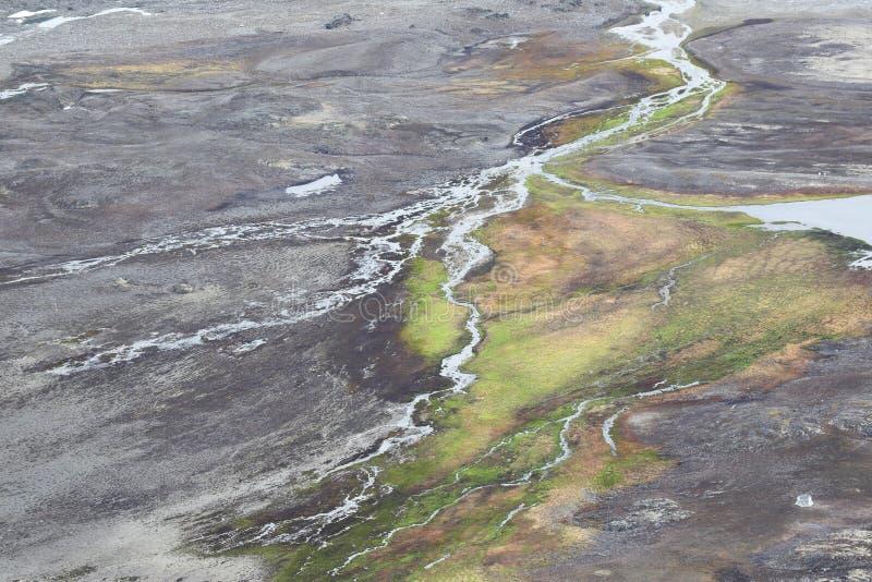 Toundra arctique - le Spitzberg, le Svalbard image libre de droits