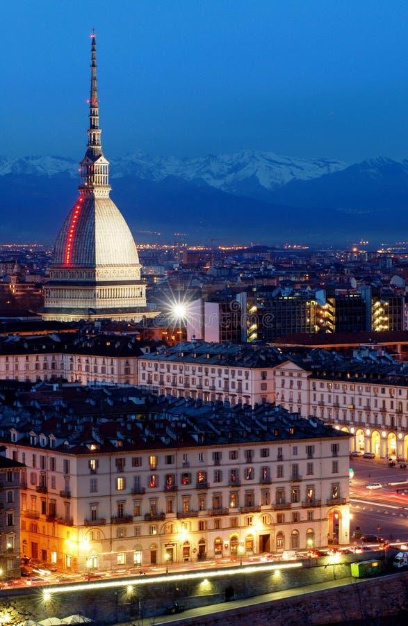 Toupeira Antonelliana, Turin imagem de stock