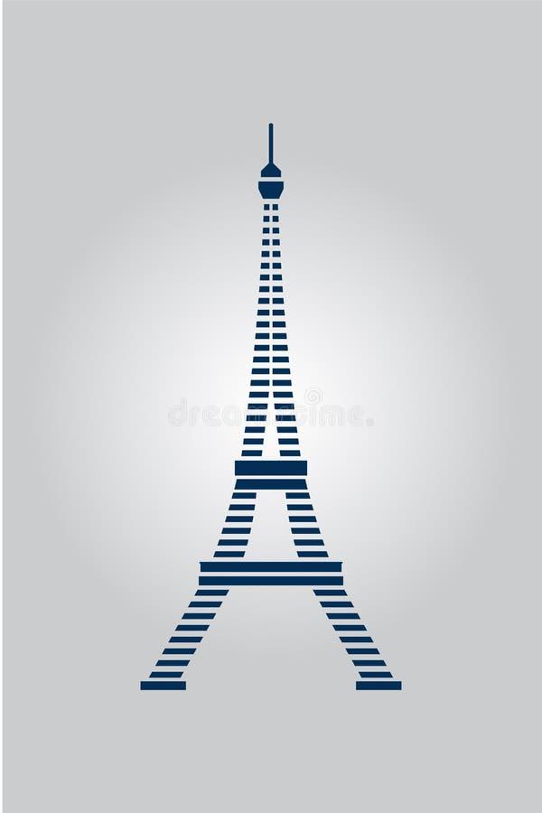 Tour abstraite d'Eiffel Paris Illustration de vecteur illustration stock
