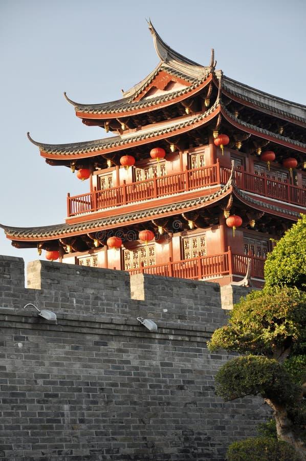 Tour antique chinoise de porte photos libres de droits