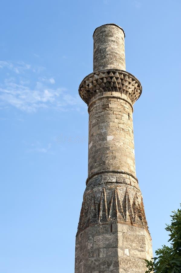 Tour antique de mosquée image stock