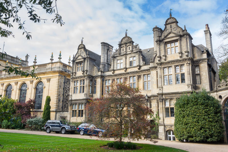 Tour around Trinity College In Oxford stock photography