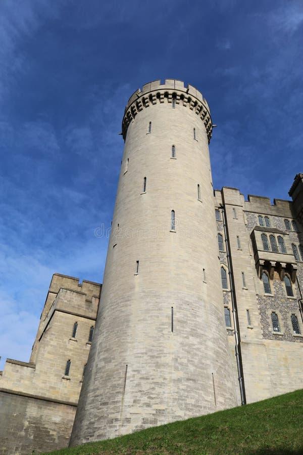 Tour au château le Sussex R-U d'Arundel image stock