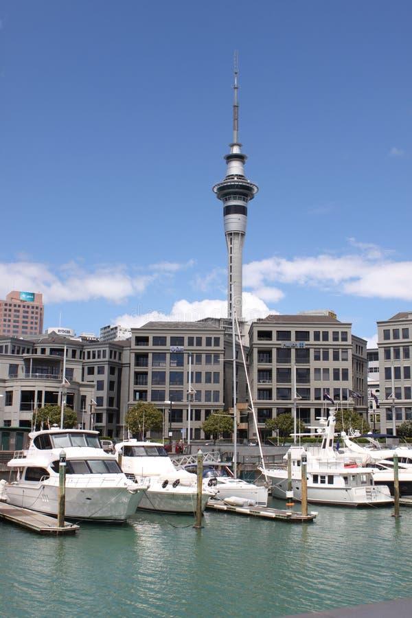 Tour Auckland de ciel photo libre de droits