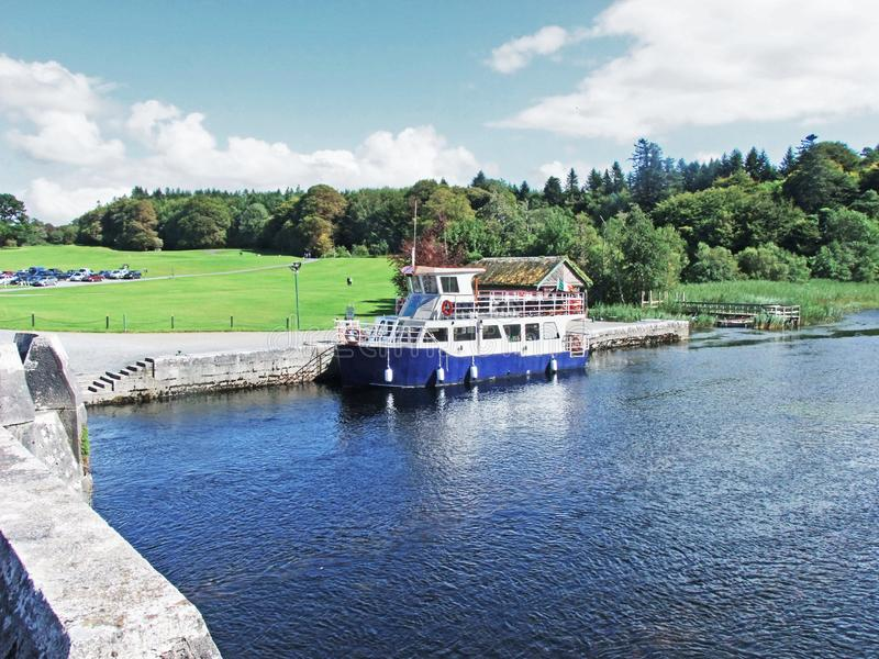 Tour boat in Co Galway Ireland. A Tour boat on a lake in Co Galway Ireland stock images