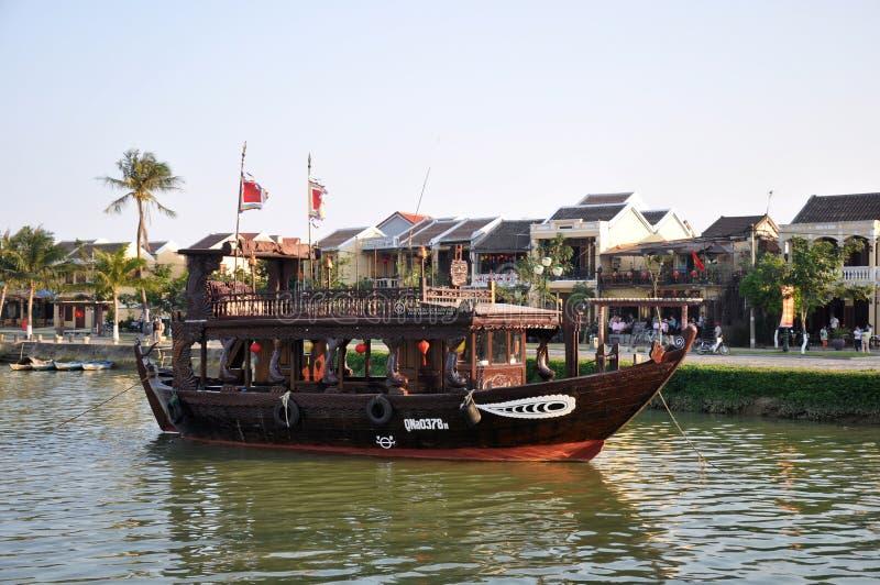 Tour boat in Vietnam stock photos