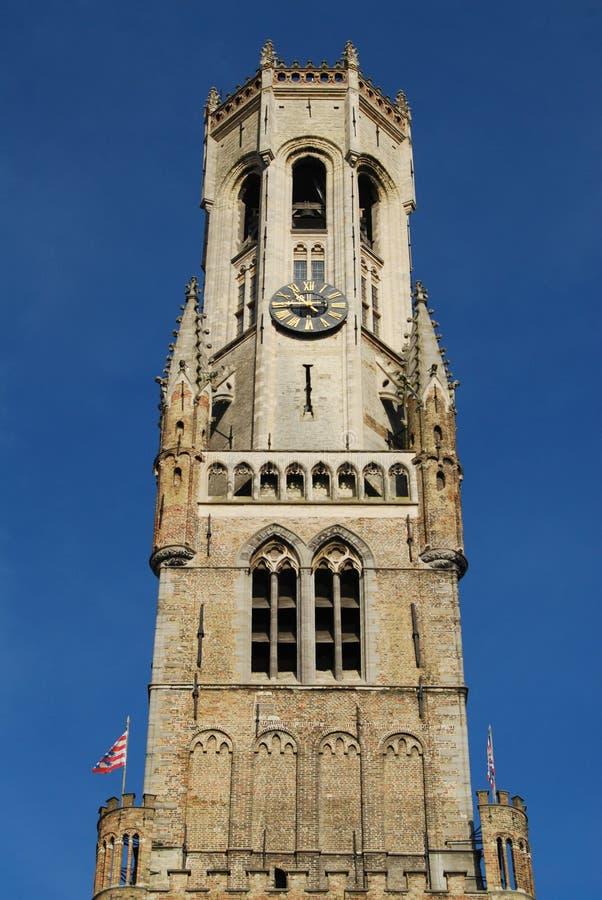 Tour Bruges de beffroi image stock
