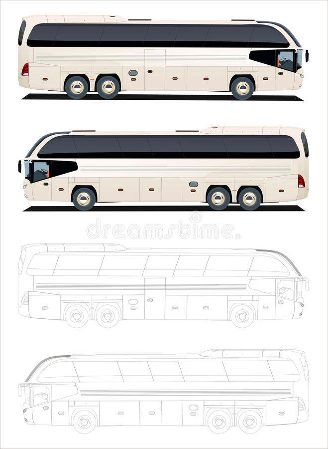Download Tour Bus stock vector. Image of white, urban, road, transportation - 11851307