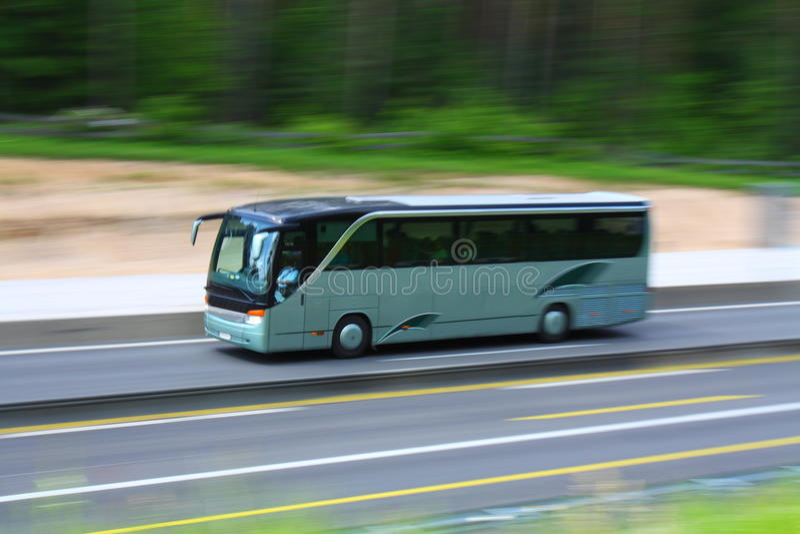 Tour bus stock image