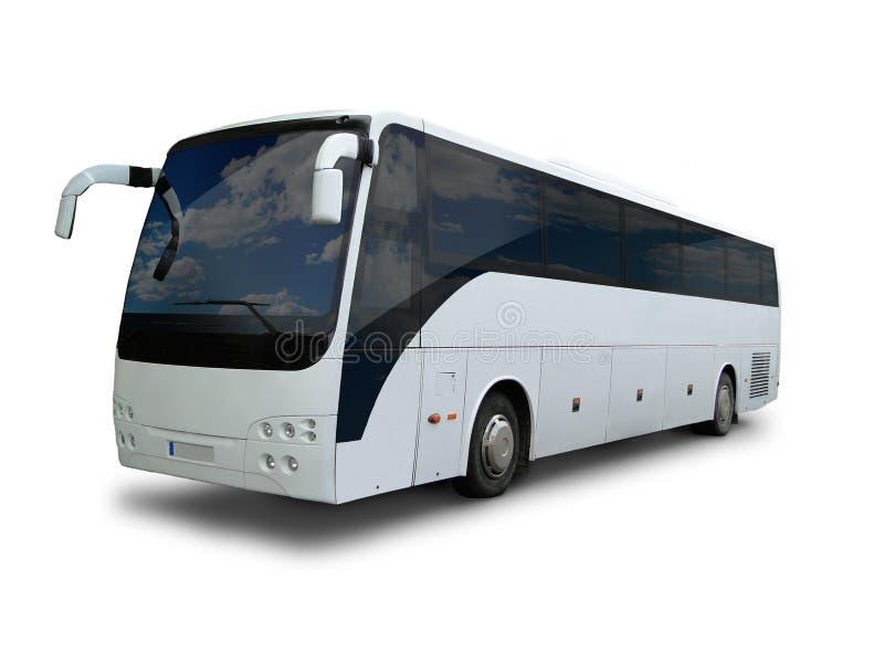 Tour bus. On white background stock photography