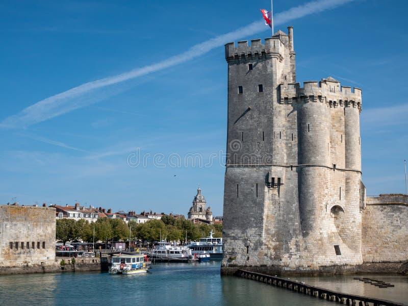 Tour célèbre de La Rochelle, une ville en France occidentale C'est emplacement images stock