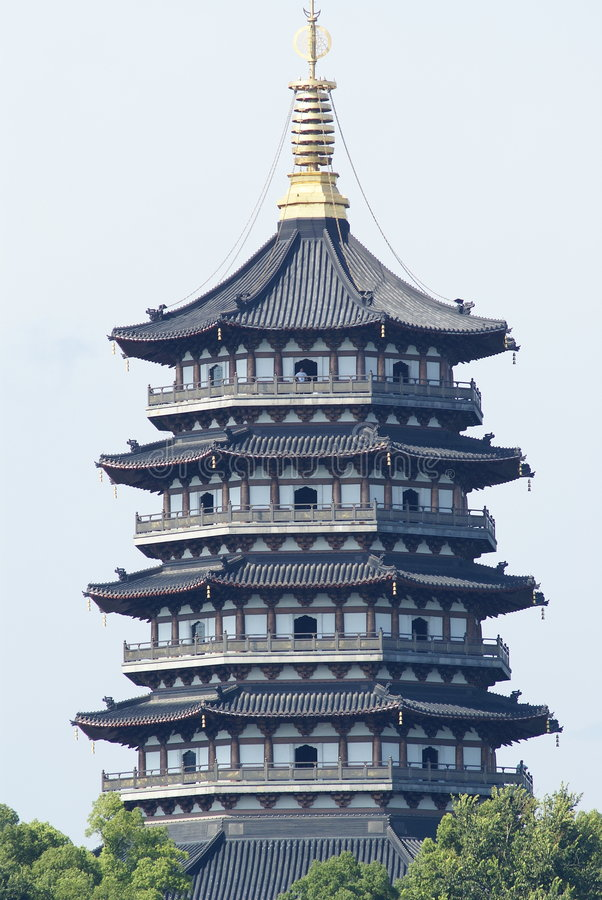 Tour chinoise de stupa photos libres de droits