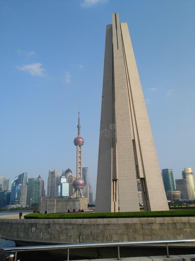 Tour commémorative des héros des personnes à Changhaï image libre de droits