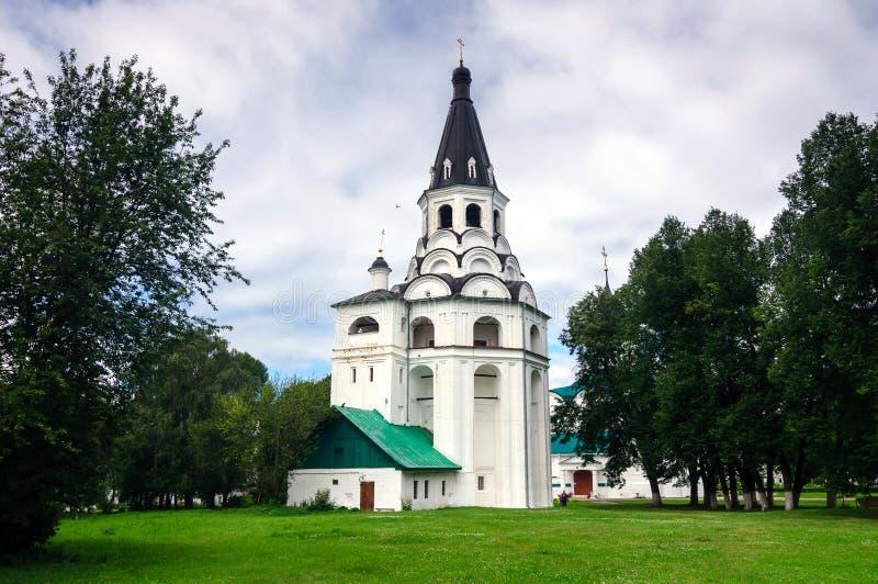 Tour d'Église-cloche de Raspyatskaya en Alexandrov Kremlin, Russie photo stock