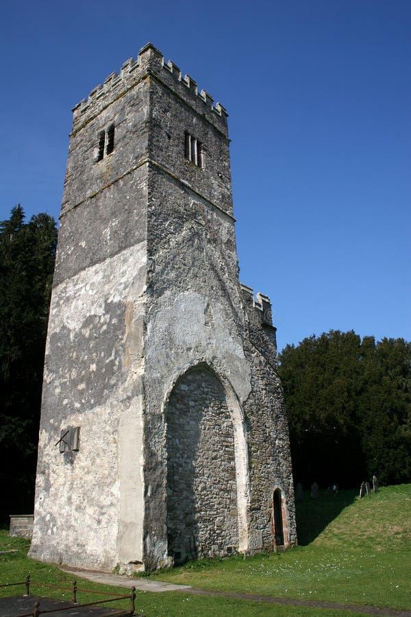 Tour d'église, Dartington photo libre de droits
