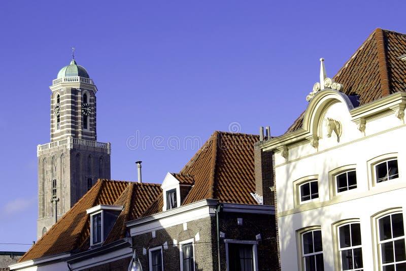Tour d'église de Zwolle photo libre de droits