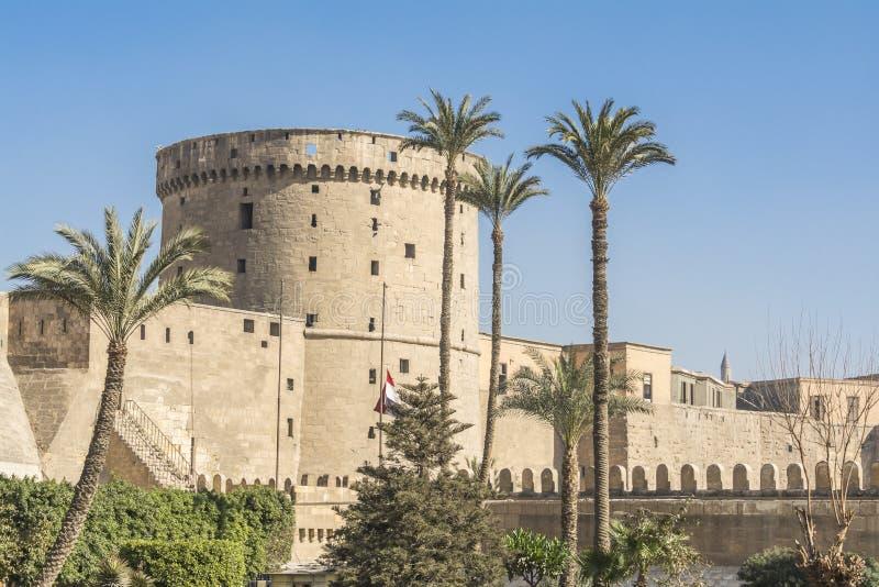 Tour d'Al-Muqattam de Saladin Citadel du Caire, Egypte photos stock