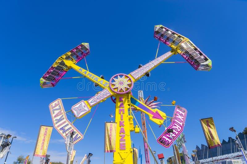Tour d'amusement de pendule dans l'exposition royale de Melbourne image stock