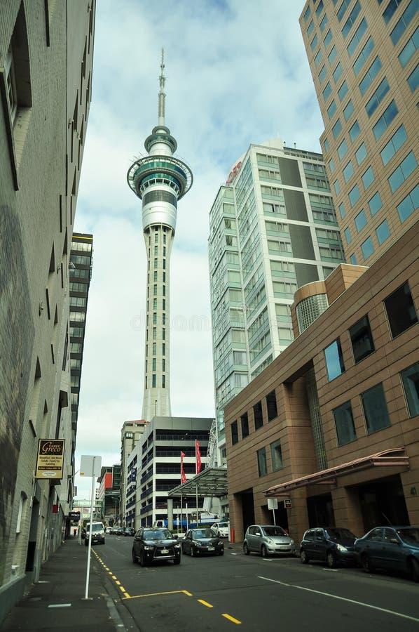 Tour d'Auckland photo libre de droits