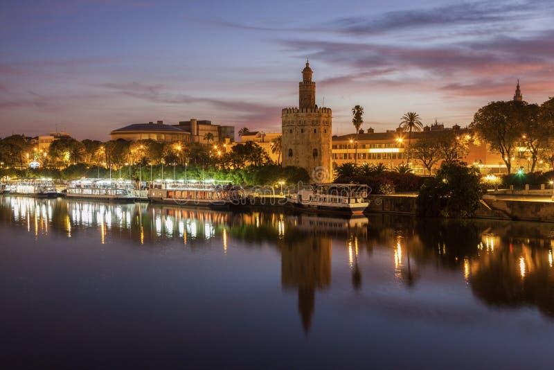 Tour d'or en Séville images libres de droits
