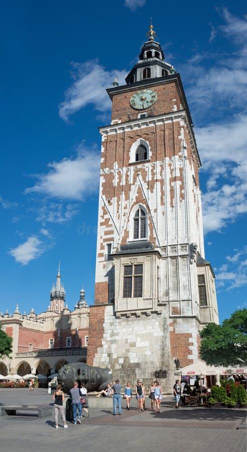 Tour d'hôtel de ville - Cracovie - Pologne image libre de droits