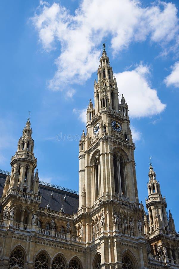 Tour d'hôtel de ville de Vienne, Autriche image libre de droits