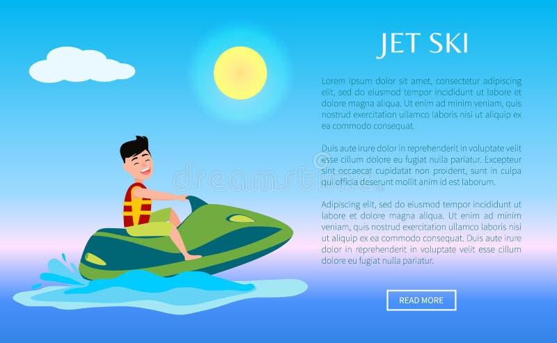 Tour d'homme d'activité de Jet Ski Web Poster Summer Sport illustration libre de droits