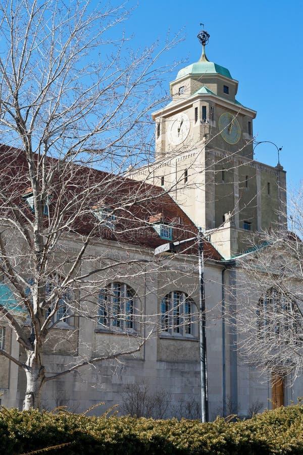 Tour d'horloge à Harvard, Cambridge Etats-Unis photos libres de droits