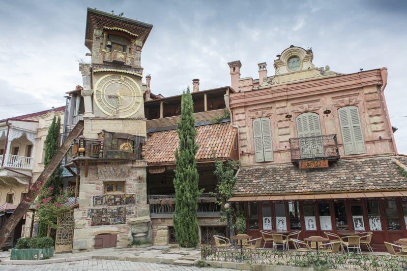 Tour d'horloge à Tbilisi, la Géorgie photo libre de droits