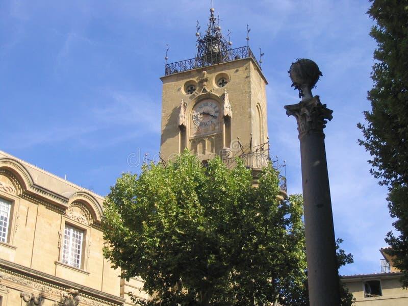 Tour d'horloge, Aix-en-Provence, France images libres de droits