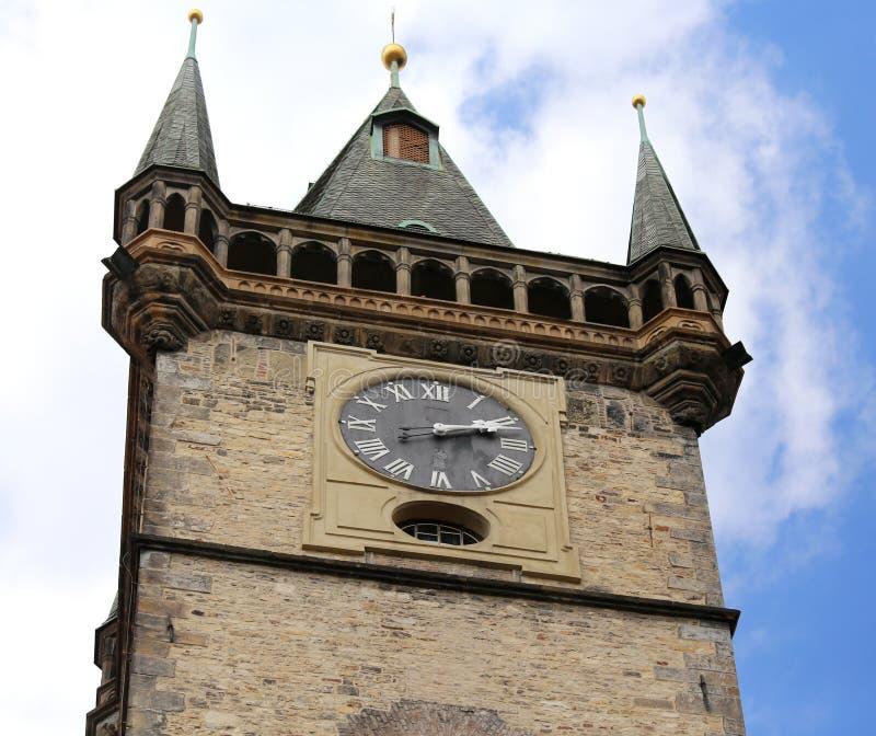 Tour d'horloge antique de la ville de Prague la capitale du Cze photo libre de droits