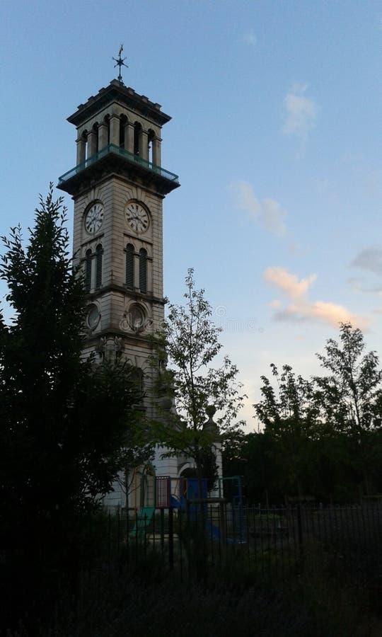 Tour d'horloge calédonienne du marché de route 2 images stock