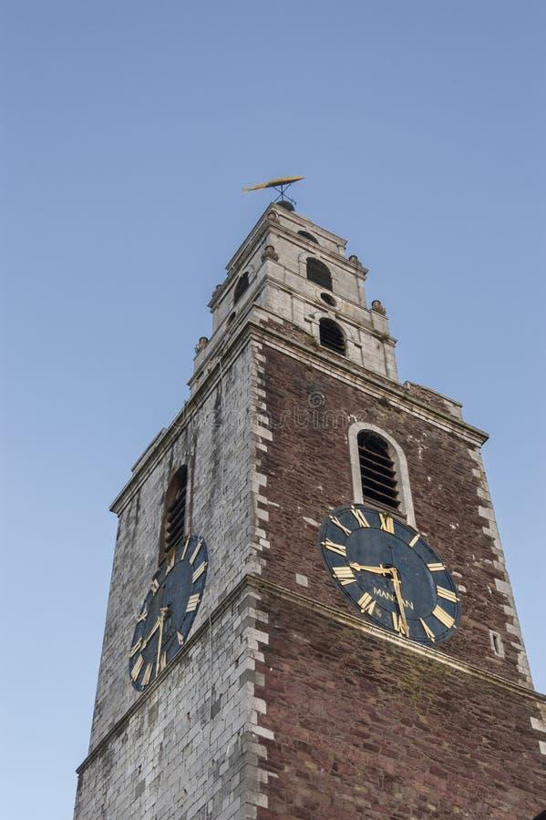 Tour d'horloge d'église de St Anne dans Shandon photo stock