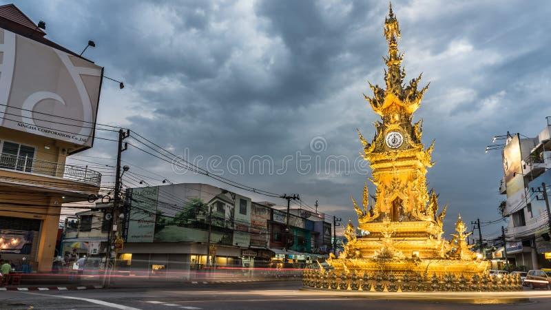 Tour d'horloge d'or image libre de droits