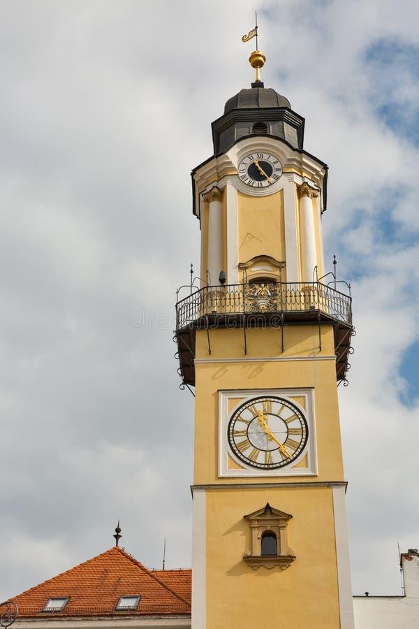 Tour d'horloge dans Banska Bystrica, Slovaquie photographie stock libre de droits
