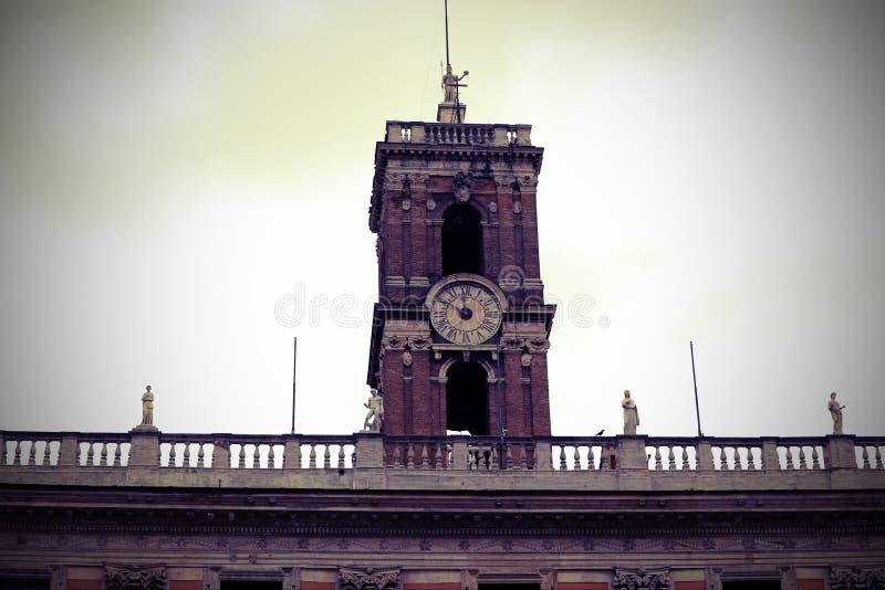 tour d'horloge de Campidoglio à Rome photo libre de droits