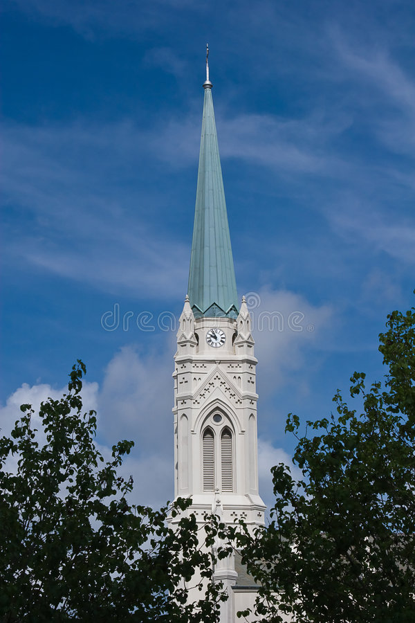 Tour d'horloge de cathédrale photo stock