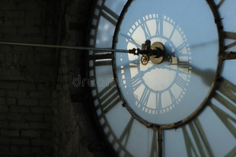 Tour d'horloge de dépôt photo stock