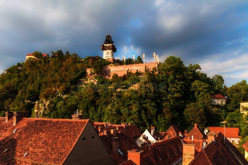 Tour d'horloge de Graz. photos libres de droits
